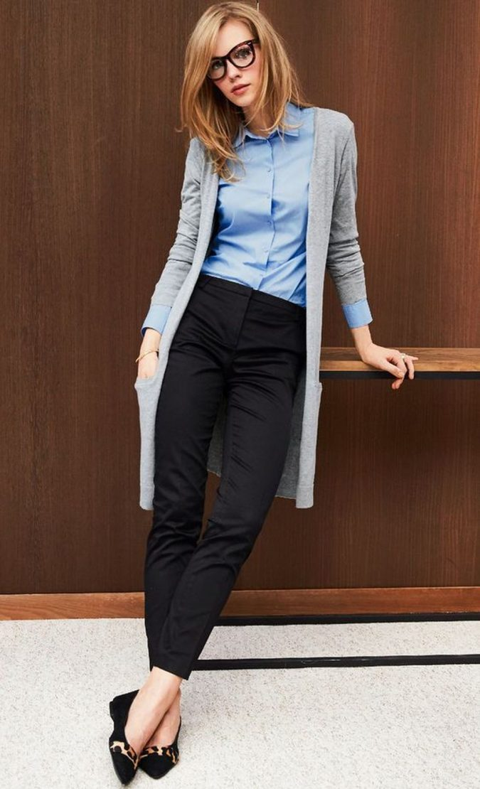 summer-work-outfit-with-cardigan-3-1-675x1110 80+ Elegant Summer Outfit Ideas for Business Women in 2019