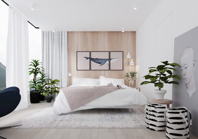 using-art-in-minimalist-bedroom-decor-675x472 9 Important Things to Remember When Decorating Your Bedroom