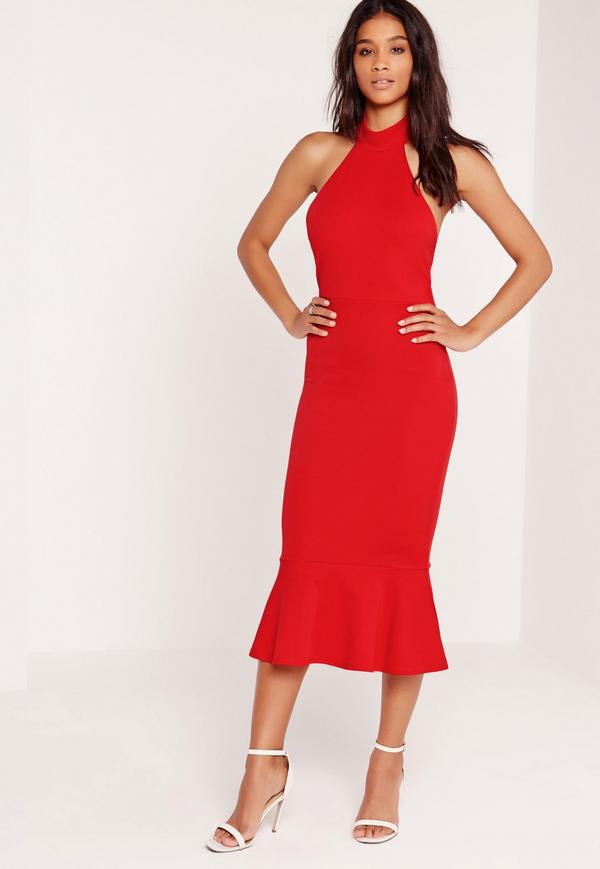 Halter-Neck-Dress. 3 Most Stylish Spring Wedding Guest Outfits