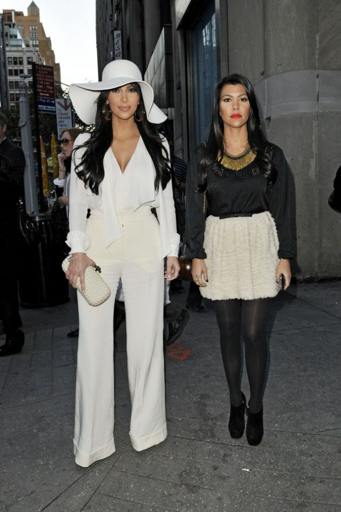 Kim-Kardashian-wearing-big-hat-675x1013 20 Most Stylish Female Celebrities Fashion Trends 2019