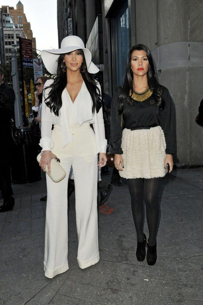 Kim-Kardashian-wearing-big-hat-675x1013 20 Most Stylish Female Celebrities Fashion Trends 2020