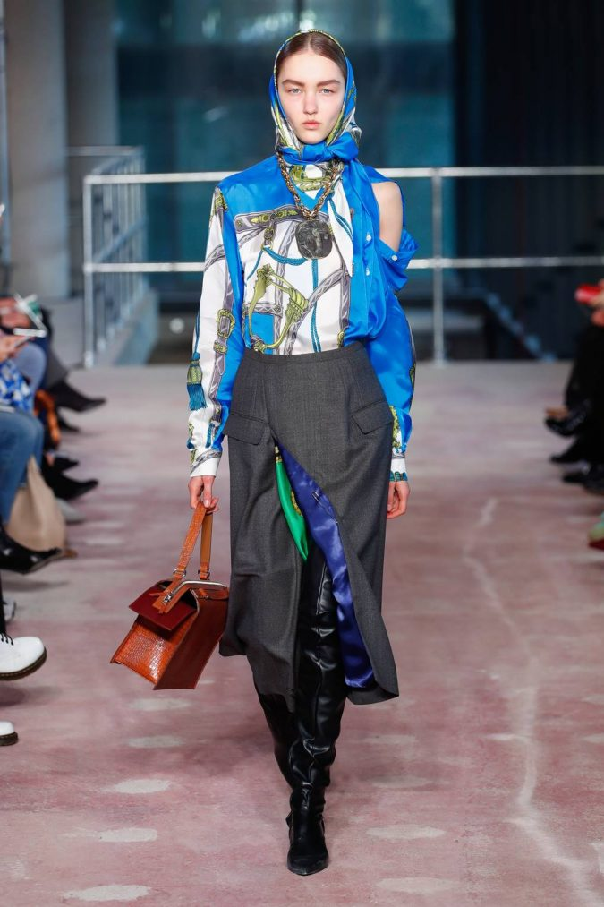 Printed-Scarfs-675x1013 20 Most Stylish Female Celebrities Fashion Trends 2020