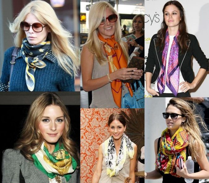Printed-Scarves-675x593 20 Most Stylish Female Celebrities Fashion Trends 2019