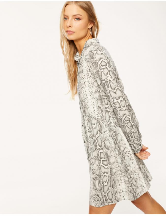 animal-printed-shirt-dress-675x879 10 Stunning Women Outfit Ideas