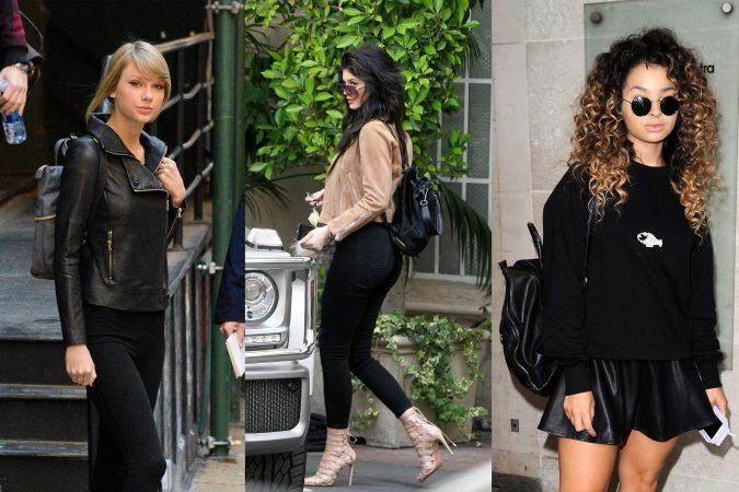 celeb-backpacks-675x450 20 Most Stylish Female Celebrities Fashion Trends 2020