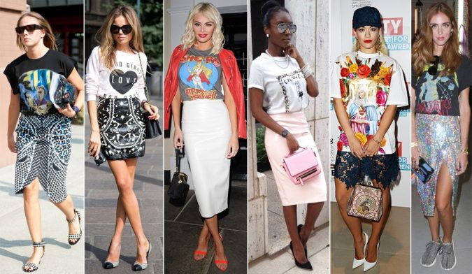 graphic-tees-675x392 20 Most Stylish Female Celebrities Fashion Trends 2019