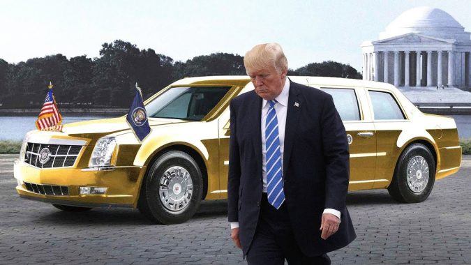 Donald-Trump-car-2-675x380 Top 10 Most Expensive and Unusual Things Owned By American President Trump