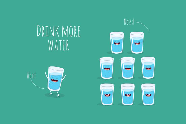 Drink-More-Water Guide To Healthy Teeth And Gums