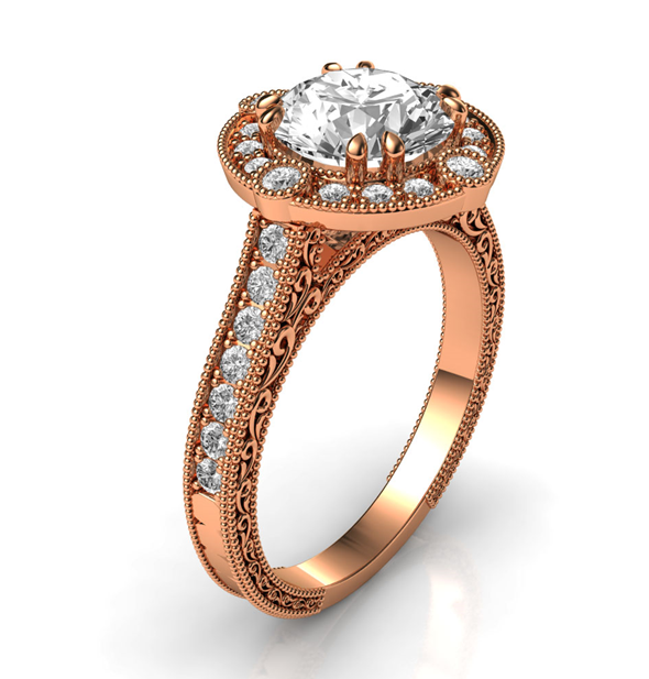 Pink-Gold-Back-on-Top 7 Hottest Engagement Ring Trends