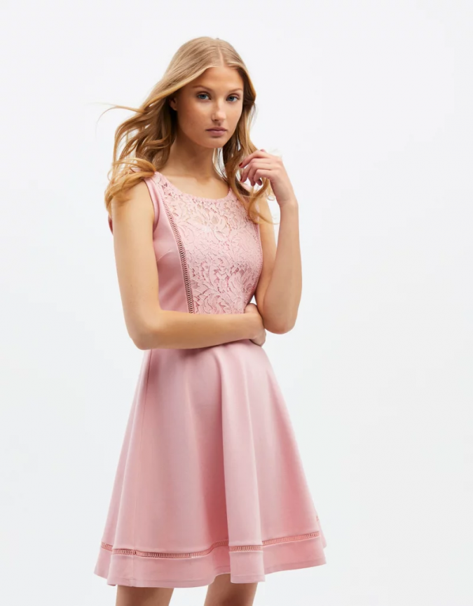 pink-laced-dress-summer-outfit-675x866 Best 20 Balenciaga Shoes Outfit Ideas for Women in 2021