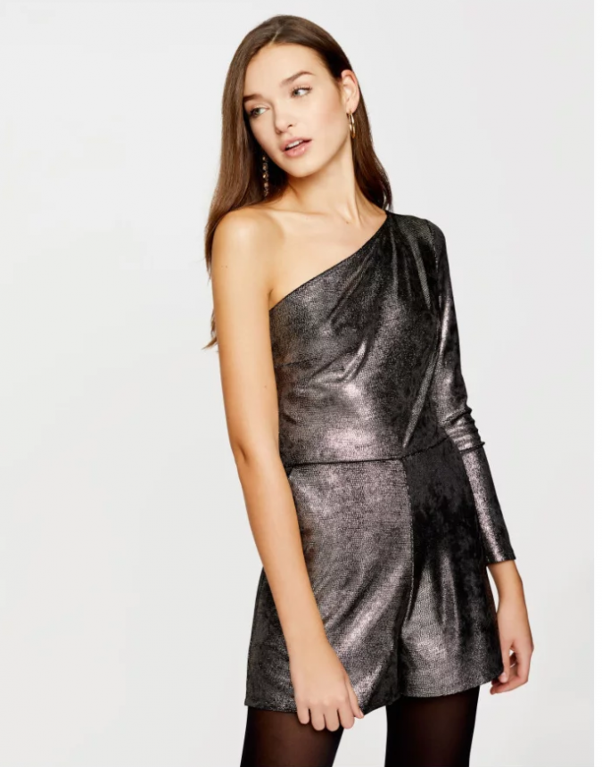 shiny-playsuit-summer-outfit-675x860 Best 20 Balenciaga Shoes Outfit Ideas for Women in 2019