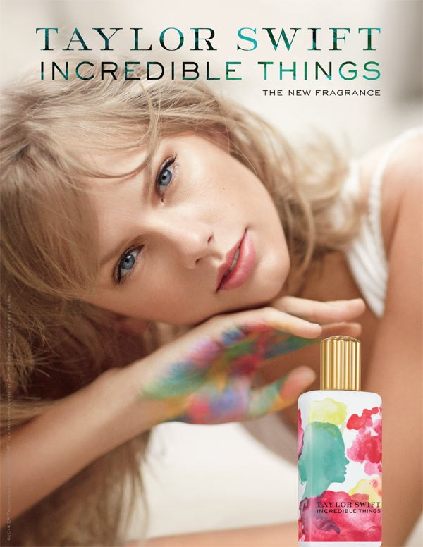 taylor-swift-fragrance-incredible-things 10 Most Favorite Perfumes of Celebrity Women