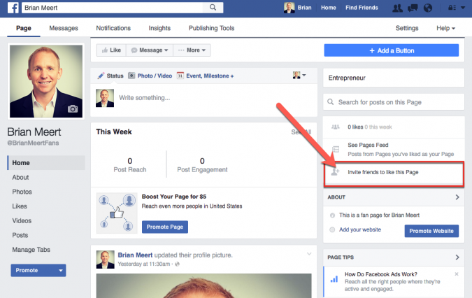 Invite-your-Facebook-friends-675x426 5 Tips for Getting More Facebook Page Likes