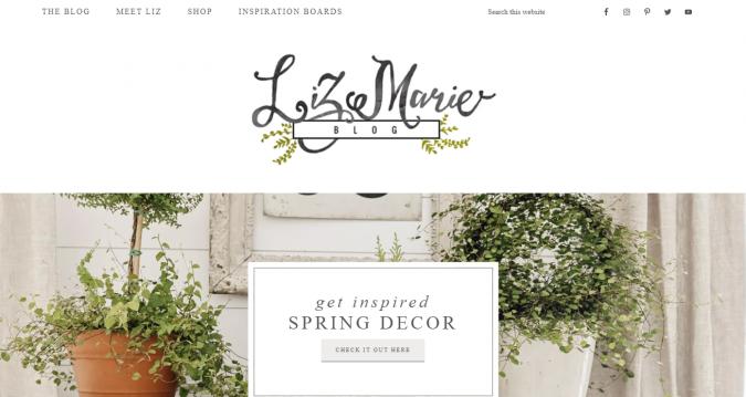 Liz-Marie-blog-interior-design-decor-675x359 Best 50 Home Decor Websites to Follow in 2020