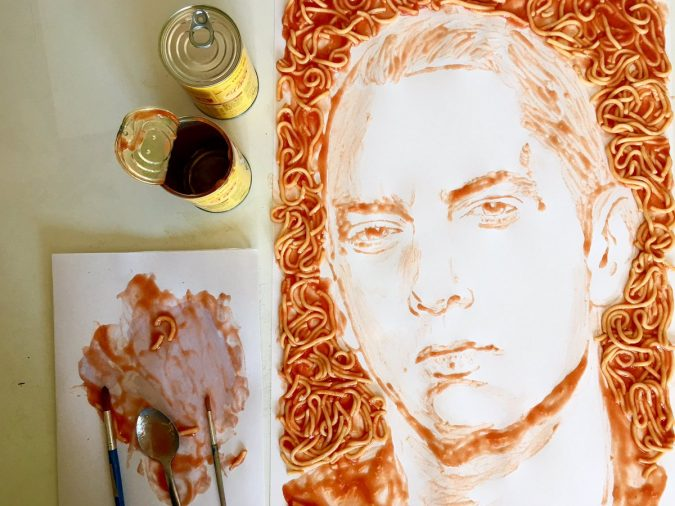 Nathan-Wyburn-art-675x506 Top 10 Best Food Artists in the World