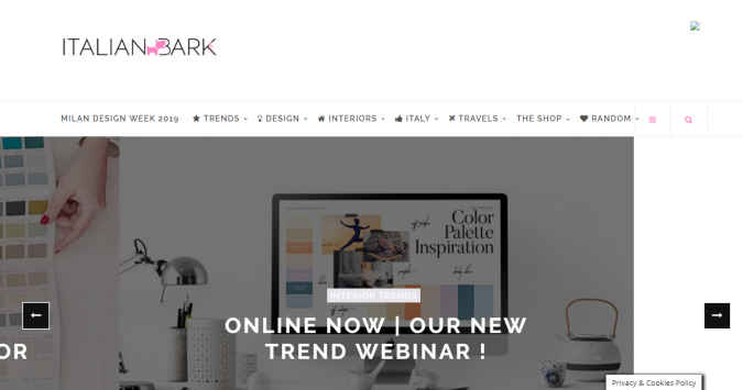 italian-bark-website-interior-design-675x355 Best 50 Home Decor Websites to Follow in 2019