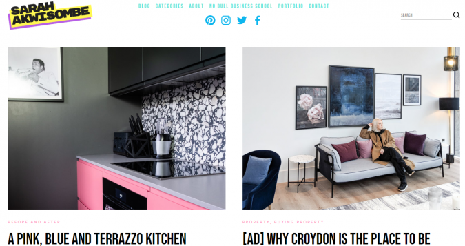 sarah-akwisombe-website-interior-design-675x357 Best 50 Interior Design Websites and Blogs to Follow in 2019