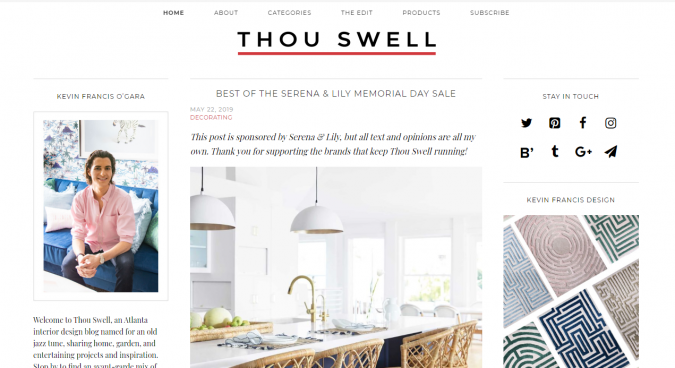 thou-swell-interior-design-675x368 Best 50 Interior Design Websites and Blogs to Follow in 2019