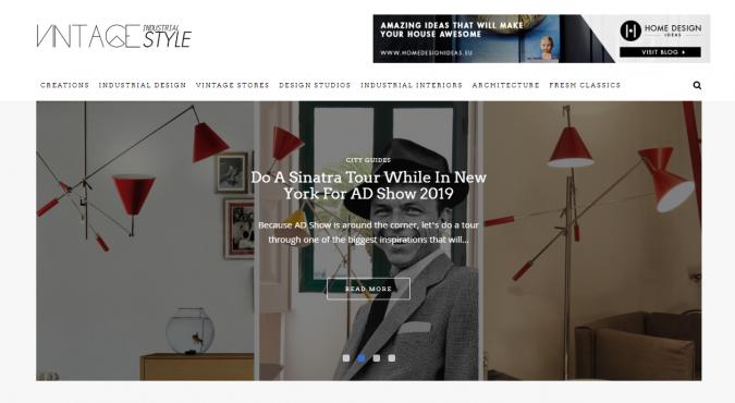 vintage-industrial-style-website-interior-design-675x370 Best 50 Interior Design Websites and Blogs to Follow in 2020