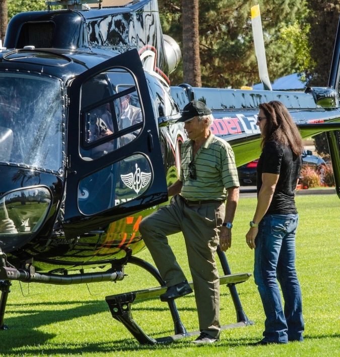 ClintEastwood-675x709 15 Most Luxurious Helicopters and Private Jets Owned by Celebrities!