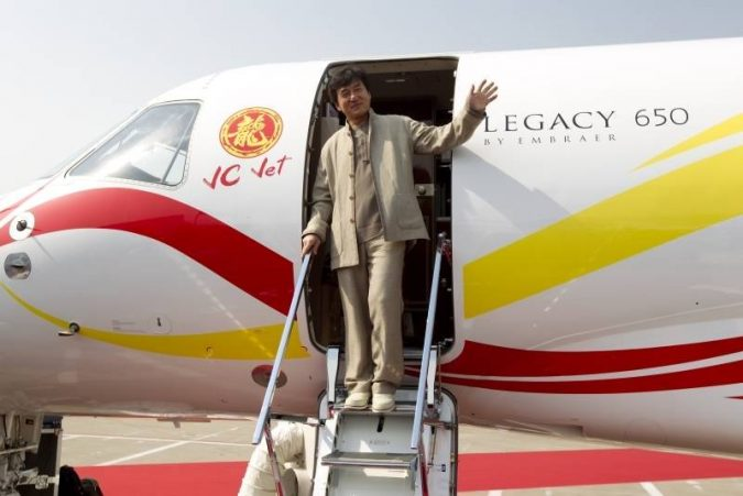 Jackie-Chan-private-jet-2-675x451 15 Most Luxurious Helicopters and Private Jets Owned by Celebrities!