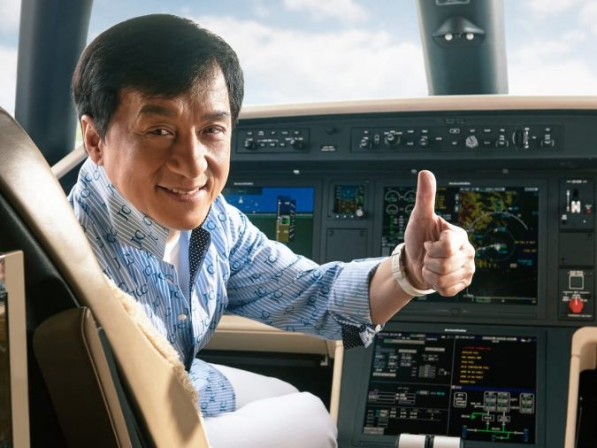Jackie-Chan-private-jet..-1-675x506 15 Most Luxurious Helicopters and Private Jets Owned by Celebrities!