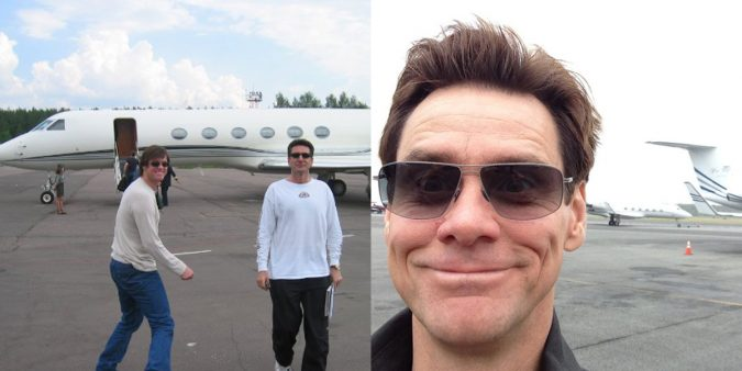 Jim-Carrey-private-jet-1-675x338 15 Most Luxurious Helicopters and Private Jets Owned by Celebrities!