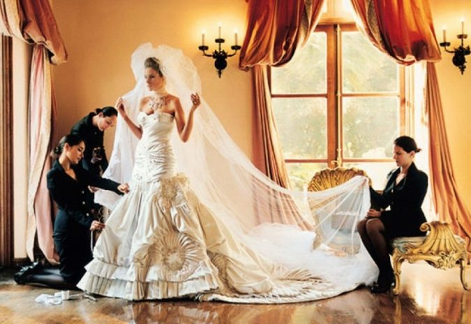 Melania-Knauss-Wedding-Gown-675x464 Top 10 Most Expensive Wedding Dress Designers in 2020