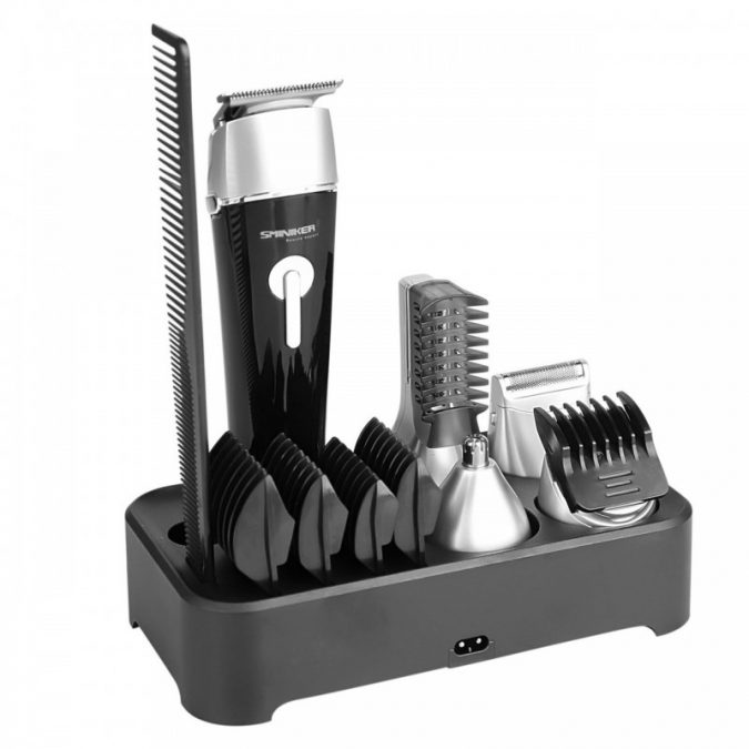 SET-OF-WATERPROOF-BEARD-TRIMMER-WITH-SMINIKER-PROF-675x675 Best 10 Professional Beard Trimmers in 2020