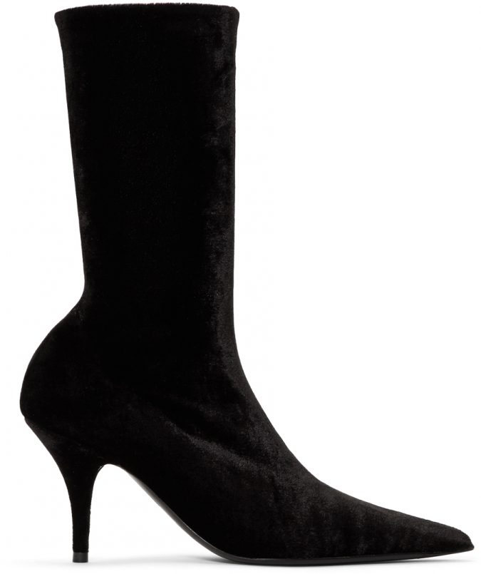 black-velvet-knife-boots-675x805 Best 20 Balenciaga Shoes Outfit Ideas for Women in 2021