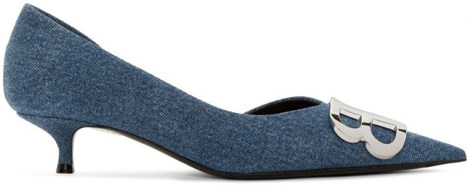 blue-denim-BB-heels-shoes-675x270 Best 20 Balenciaga Shoes Outfit Ideas for Women in 2021