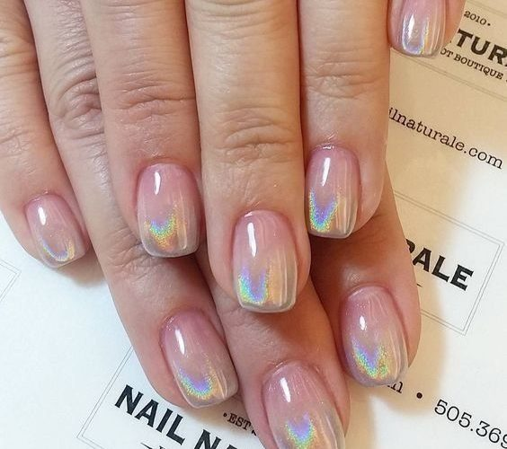 holographic-nails-2 +60 Hottest Nail Design Ideas for Your 2019 Graduation