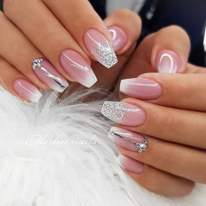 light-pink-glitter-nails-675x675 +60 Hottest Nail Design Ideas for Your 2019 Graduation