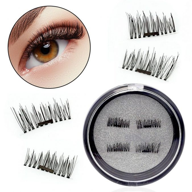 makeup-Magnetic-eyelashes-675x675 Top 20 Newest Eyelashes Beauty Trends in 2019