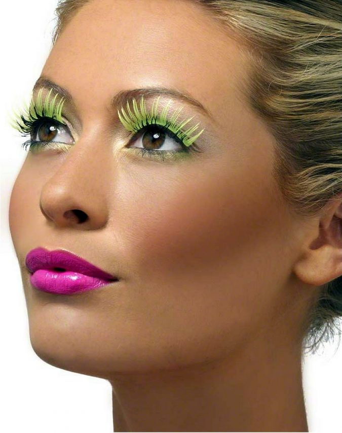 makeup-eyelashes-neon-yellow-675x853 Top 20 Newest Eyelashes Beauty Trends in 2020