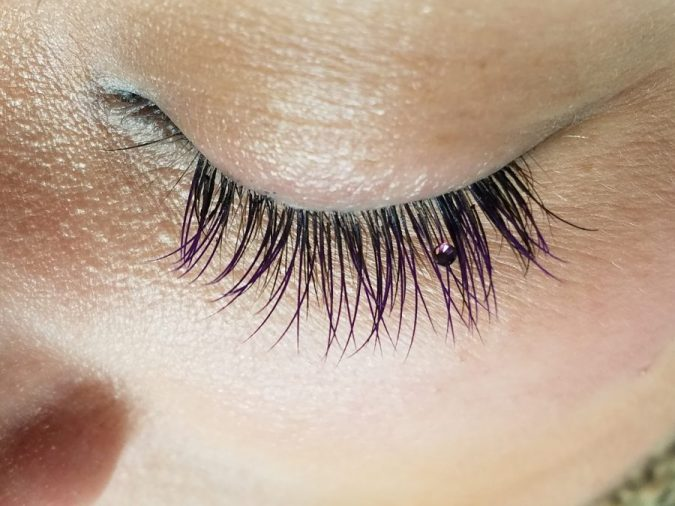 makeup-jeweled-eyelash-extension-e1560449661858-675x506 Top 20 Newest Eyelashes Beauty Trends in 2020