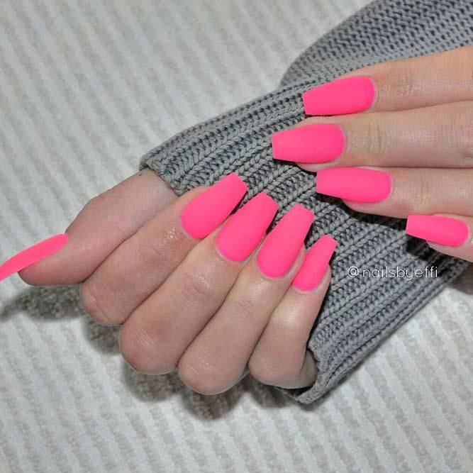 matte-pink-nails +60 Hottest Nail Design Ideas for Your Graduation