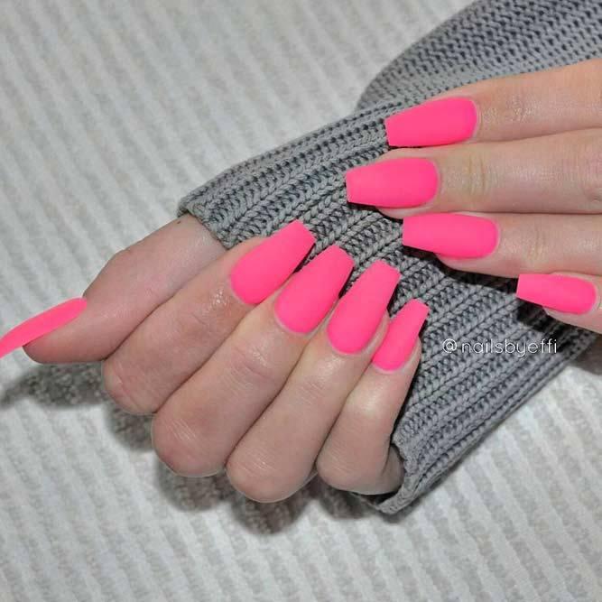 matte-pink-nails +60 Hottest Nail Design Ideas for Your Graduation