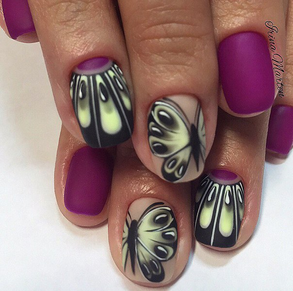 matte-purple-nails +60 Hottest Nail Design Ideas for Your Graduation