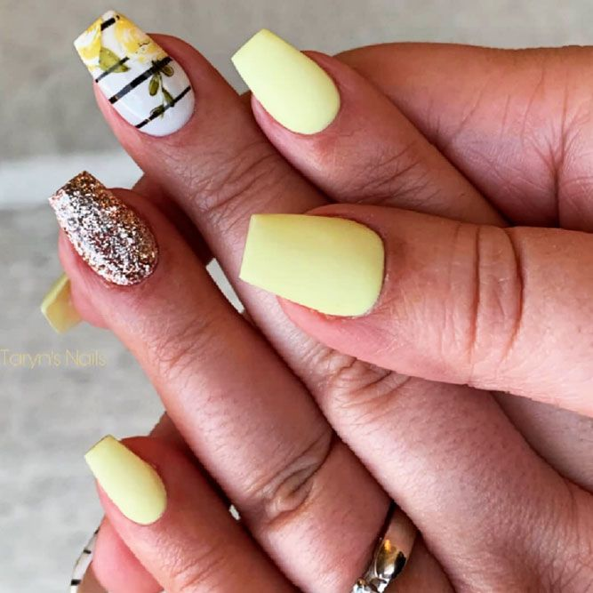 matte-yellow-nail-aer +60 Hottest Nail Design Ideas for Your 2019 Graduation