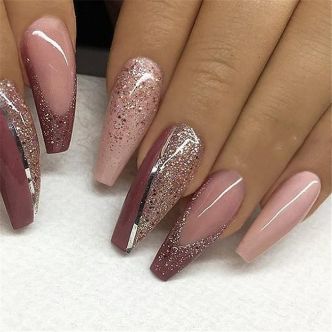 nude-glitter-nail-design-675x675 +60 Hottest Nail Design Ideas for Your Graduation