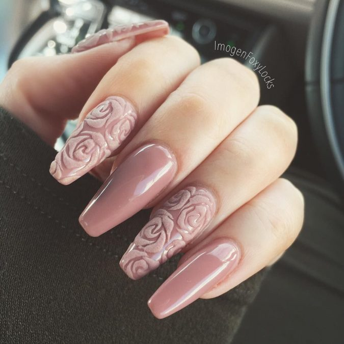 nude-nail-art-675x675 +60 Hottest Nail Design Ideas for Your Graduation