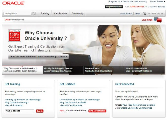 oracle-university-website-675x485 Examsnap Guide to Oracle Certification Programs
