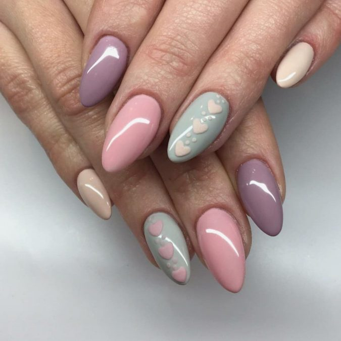 pastel-nails-2-675x675 +60 Hottest Nail Design Ideas for Your Graduation
