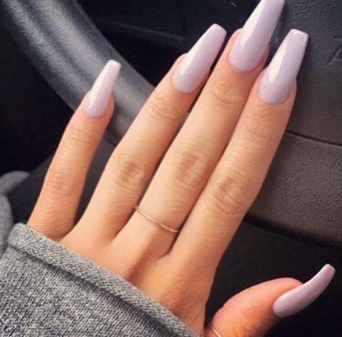 pastel-purple-nails-675x666 +60 Hottest Nail Design Ideas for Your Graduation