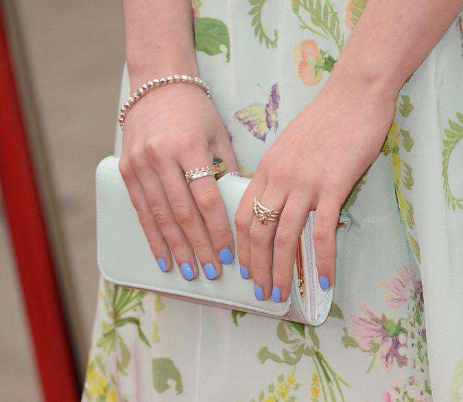 pastel-sky-blue-nails-675x587 +60 Hottest Nail Design Ideas for Your Graduation
