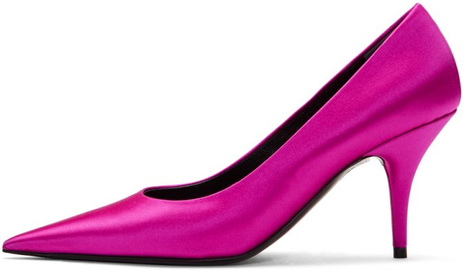 pink-satin-knife-heals-e1560251913480-675x397 Best 20 Balenciaga Shoes Outfit Ideas for Women in 2021
