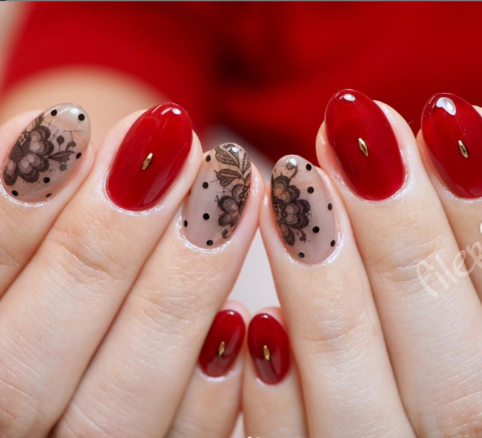 red-nail-art-675x614 +60 Hottest Nail Design Ideas for Your Graduation