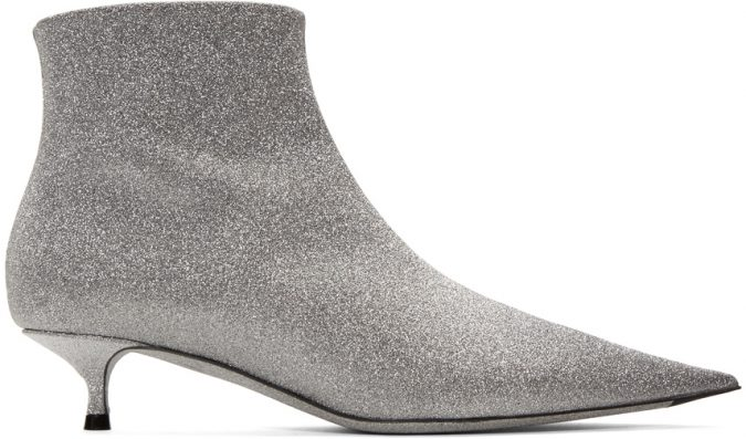 silver-ankle-boots-675x397 Best 20 Balenciaga Shoes Outfit Ideas for Women in 2019