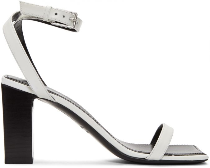 white-double-strap-square-sandals-675x541 Best 20 Balenciaga Shoes Outfit Ideas for Women in 2019